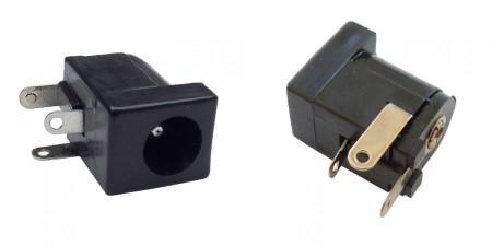 DC aljzat, nyákba forrasztható. 5,5x2,1mm (2088)