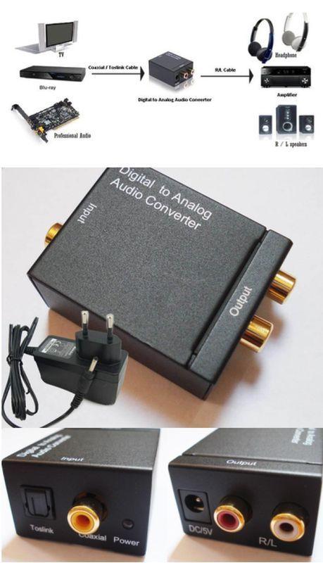 OPTIKAI SZTEREÓ RCA ÁTALAKÍTÓ (digitál - analóg konverter 92570) RENDELÉS ALATT !!!!!!!!
