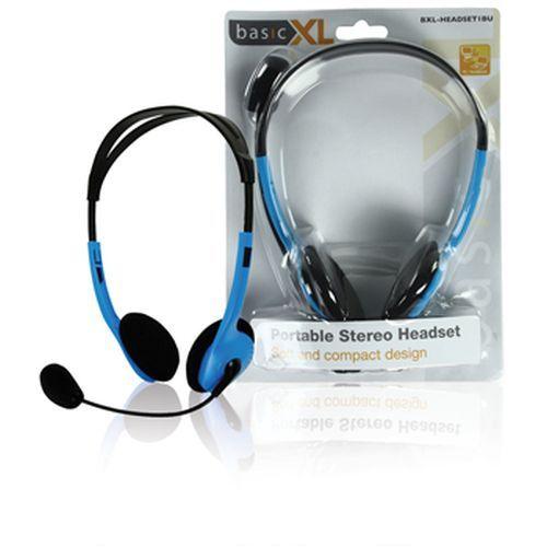 Multimédiás fejhallgató mikrofonnal kék RENDELÉSRE !!!!!