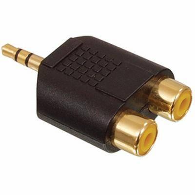 Audio átalakító 2 RCA alj - 3,5 JACK dugó STEREO aranyozott