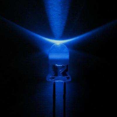 5mm villogó KÉK nagyfényű LED 7000mcd (6405BL)