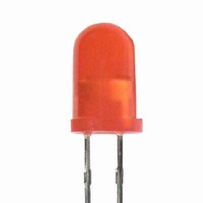 5mm Piros LED matt szinezett