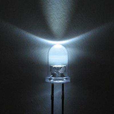 5mm FEHÉR nagyfényű LED 12000 - 14000mcd AKCIÓS !!!!!!