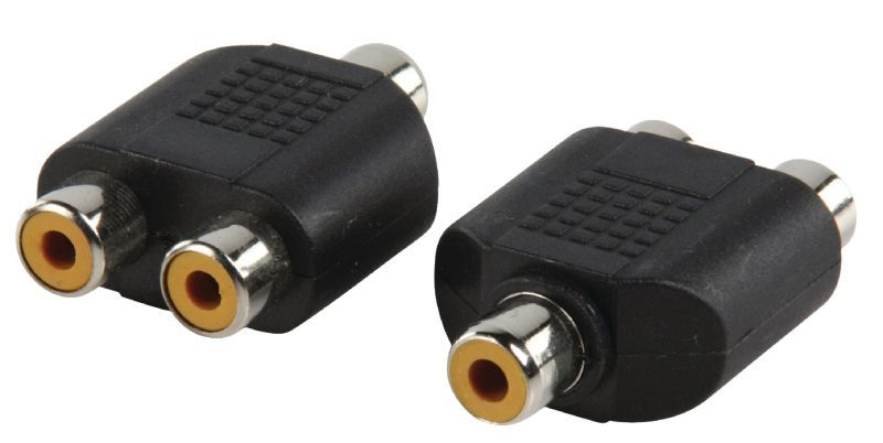 Audio átalakító 2 RCA alj - 1 RCA aljzat (AC-056)