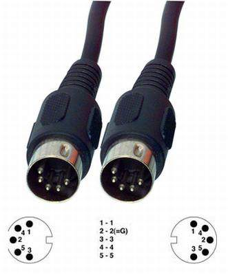 5p dugó - 5p dugó 5m audió vagy MIDI kábel (CABLE-307/5)