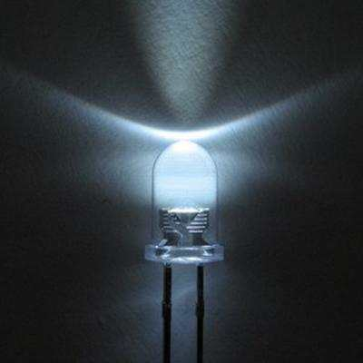 5mm fehér nagyfényű villogó LED 170fok 1000mcd