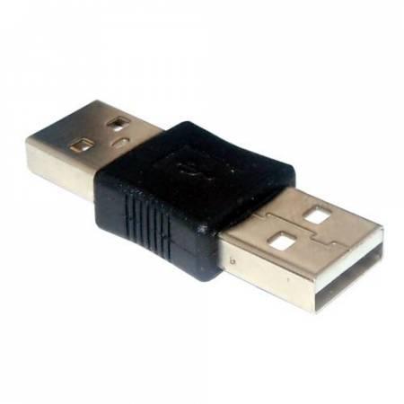 USB A dugó - USB A dugó (toldó adapter 5063) KÉSZLETHIÁNY !!!!!