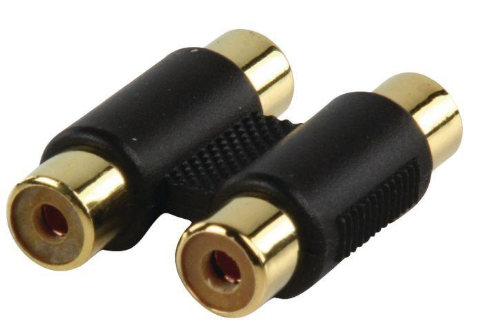 2RCA aljzat - 2RCA aljzat adapter aranyozott (AC-027GOLD)