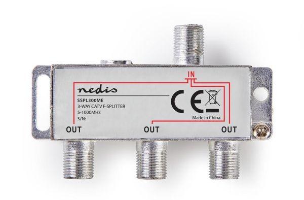 F-ELOSZTÓ 3-as (5 - 1000 MHz) kábel TV, DVB-T elosztása
