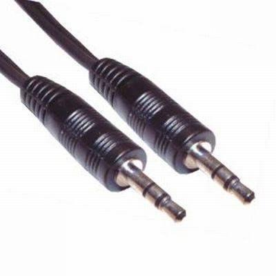 2db 3,5mm sztereó jack dugóval szerelt kábel. Hossza: 1,5m (VLAP VLAT22000B15)