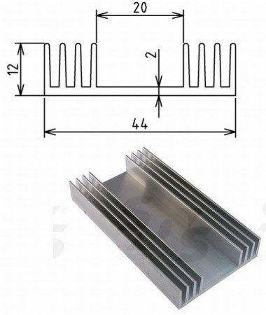 Hütőborda POWER LED-ekhez L=40mm 44x12mm (65686) KAPHATÓ !!!!!!!
