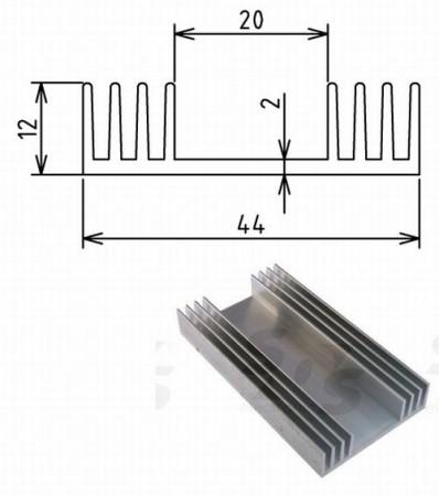 Hütőborda POWER LED-ekhez L=80mm 44x12mm (65843) KAPHATÓ !!!!