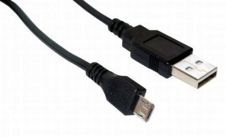 USB kábel A - mikro USB 5 tűs 1m telefonhoz, 2A-es töltéshez is jó. (CCGT60500BK10) KAPHATÓ !!!!!!!