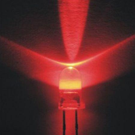 5mm PIROS nagyfényű víztiszta LED 4000mcd  KIFOGYOTT !!!!