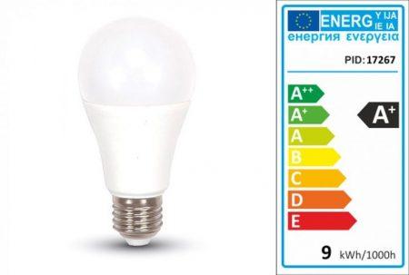 LED lámpa E27 (9Watt/200°) A60 - meleg fehér 806 lumen !!!! AKCIÓS !!!! KAPHATÓ !!!!!!