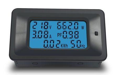 AC 110-250V 0-20A Nagyméretű LCD kijelző digitális Volt-Amper-Watt-Wattóra-Teljesítmény tényező-Frekvencia mérő műszer RENDELÉS ALATT !!!