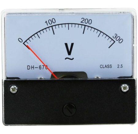 Analóg voltmérő 300V váltóáram (PAN.V1060) RENDELÉSRE !!!!!