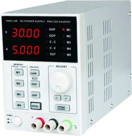 0-30V 0-5A labor tápegység LED kijelző 150W, (RND320-KA3005D) KÜLSŐ RAKTÁRON !!!!!!! 1-2 munkanap (előre utalással)