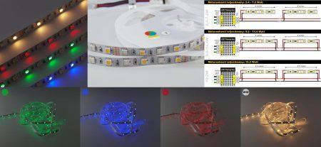 RGBW RGB+meleg-fehér ledszalag 30db SMD5050 RGB+30db SMD5050 Meleg-fehér LED/m AKCIÓS !!!! RENDELÉSRE !!!!! 2-3 munkanap