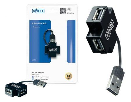 Sweex 4 portos USB hub 2.0 (US012) AKCIÓS !!!! KAPHATÓ !!!!