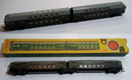 TT vagon emeletes dupla személyszállító kocsi vasútmodell eredeti állapot AKCIÓS !!!!!! KAPHATÓ !!!!!