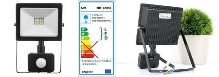 SMD LED, mozgásérzékelős reflektor, 20W, 1700lumen természetes-fehér (17165) RENDELÉSRE !!!!!! 3-4 munkanap