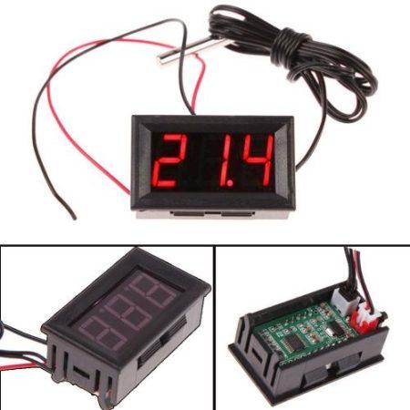 Hőmérő panel -50 - +110 fok LED piros KIFOGYOTT !!!!!!