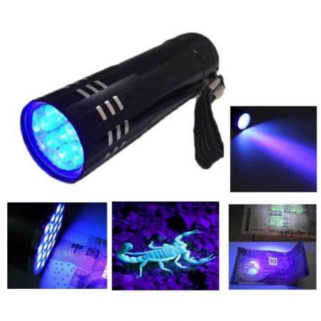 9 LED-es hordozható UV fényvető (fényágyú) AKCIÓS !!!!!! RENDELÉS ALATT !!!!!