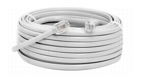 Telefon kábel 6/4 dugó - dugó (normál) 30m