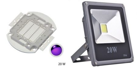 Reflektor 20W UV Ultra Violet Power LED 395-400nm KIFOGYOTT !!!!!