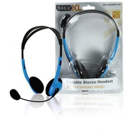 Multimédiás fejhallgató mikrofonnal kék BXL-HEADSET1) RENDELÉSRE !!!!!!