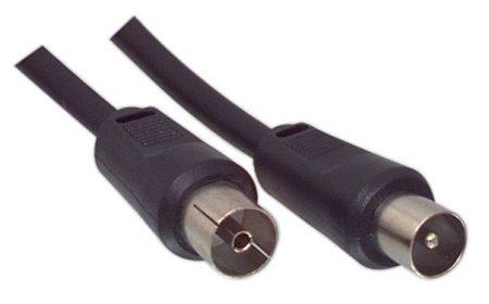 Antemma kábel 1,5m aljzat - dugó fekete (RF-kábel földi analóg és DVB-T) VLSP4000B15 KAPHATÓ !!!!!