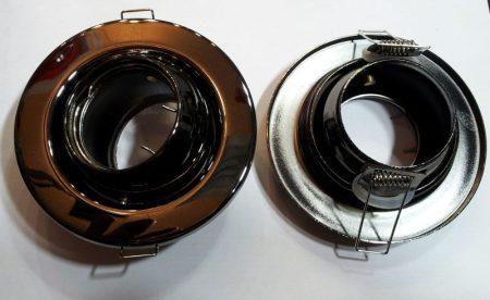Beépíthető lámpatest billenő ,fém, bronz, halogénhez vagy LED-hez MR16-os foglalattal AKCIÓS !!!!!! (DL56/BN)