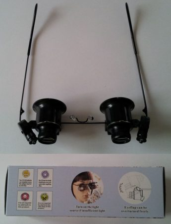 20 X-os nagyítós szemüveg dupla nagyítóval led világítással KIFOGYOTT !!!!!