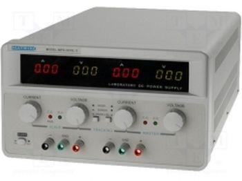 Laboratóriumi tápegység, 2x30V 2x10A (MPS-3010L-2) RENDELÉSRE !!!!!! 3-4 munkanap (előre utalással)