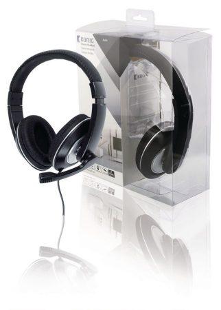 Headset Teljes Fület Befedő Kialakítás 2x 3.5 mm Beépített Mikrofon Fekete (CMP-HEADSET130) AKCIÓS !!!!! RENDELÉSRE !!!!!