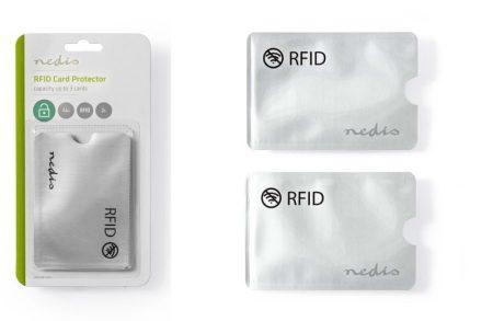 RFID bankkártya adatlopás ellen védő tok, alumínium ezüst, 2db/csomag (PRIVRF10AL) KAPHATÓ !!!!!!