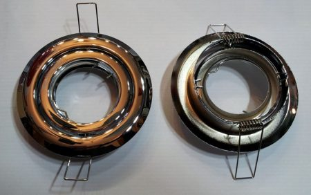 Beépíthető lámpatest síkban billenő, fém matt króm, halogénhoz vagy LED-hez MR16-os foglalattal AKCIÓS !!!!!! (800000158) KAPHATÓ !!!!!