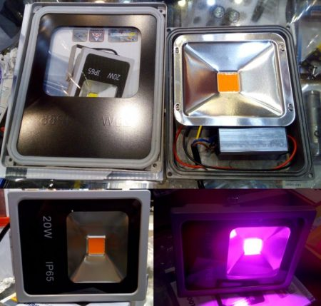 Reflektor, 20W meghajtó, 30W-os LED-el, Teljes Spektrum piros és kék, növényekhez a fejlődés minden szakaszához. KIFOGYOTT !!!!!