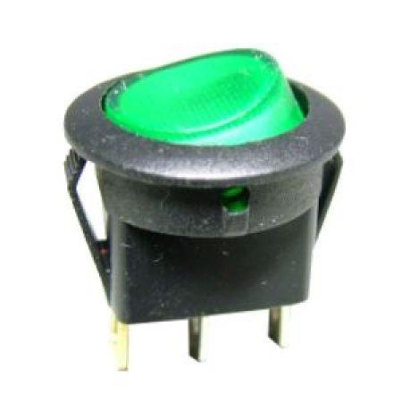 Billenő kapcsoló zöld izzó 16A 12V AC / DC (5431) KIFOGYOTT !!!!!!