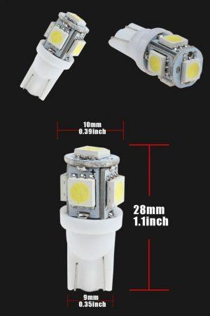 T10 1W SMD LED hideg-fehér AKCIÓS !!!!! KIFOGYOTT !!!!!