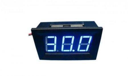 Kék kijelzős digitális feszültség mérőműszer DC 4,5 - 30V besöntölve (azonnal használható) AKCIÓS !!!!!! RENDELÉS ALATT !!!!!