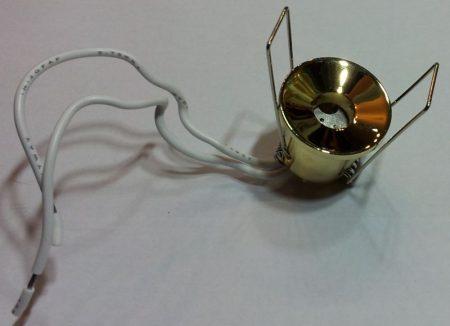 Beépíthető lámpatest, fém, arany, G4 halogénhez vagy LED-hez foglalattal (800000011) AKCIÓS !!!!!! KAPHATÓ !!!!!!
