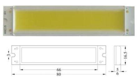 FÉNYPANEL 4W 3V POWER LED meleg-fehér 300 lumen AKCIÓS !!!!!!!! KIFOGYOTT !!!!