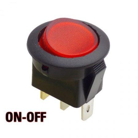 Billenő kapcsoló piros izzó 16A 12V AC / DC (5551) KIFOGYOTT !!!!!!