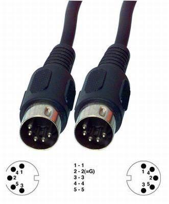 5p dugó - 5p dugó 1m audió vagy MIDI kábel (CAGP20000BK10) KAPHATÓ !!!!!