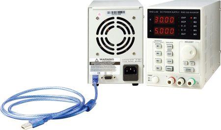 0-30V 0-5A programozható labor tápegység LED kijelző 150W, USB RS232 ( RND320-KA3005P) KÜLSŐ RAKTÁRON !!!!!!! 1-2 munkanap (előre utalással)
