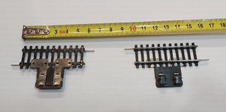 TT vasútmodell sín rövid leválasztó, 2db 5,5cm párban eredeti felújított KIFOGYOTT !!!!!