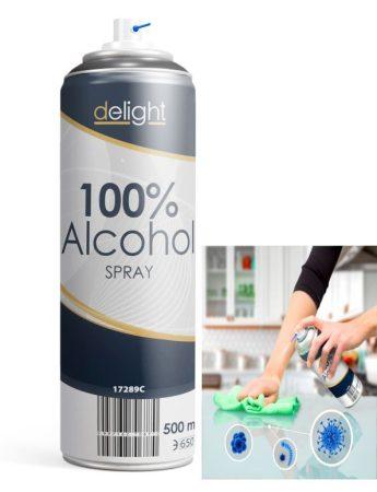 100% Alkohol spray - 500 ml KÜLSŐ RAKTÁRON !!!! 3-4 munkanap