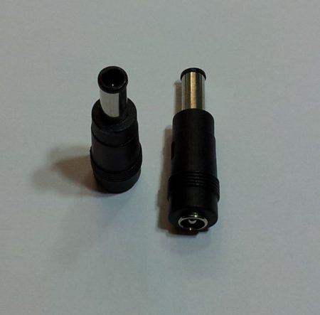 DC átalakító adapter 6/4,5mm, középen tüskével dugó - 5,5/2,1 aljzat RENDELÉS ALATT !!!!!
